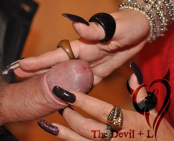 Girls Long Nails Sucking Cock