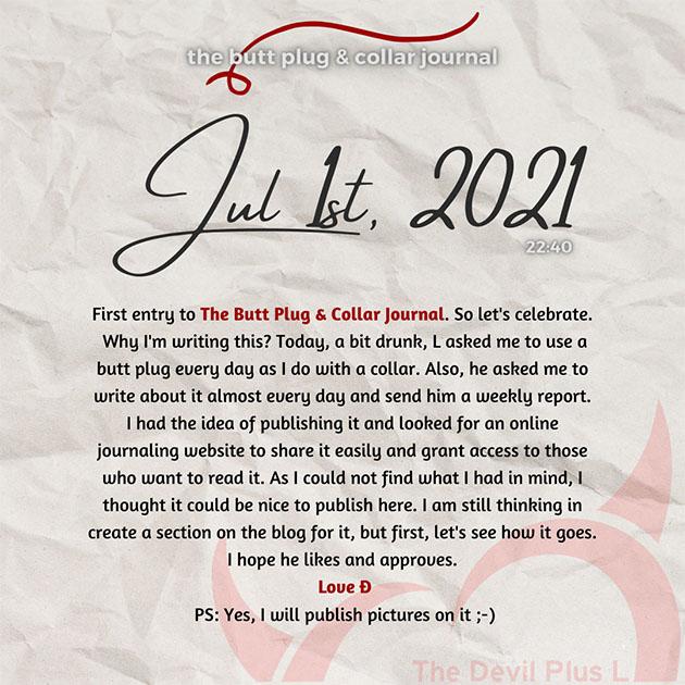 The Butt Plug & Collar Journal 1